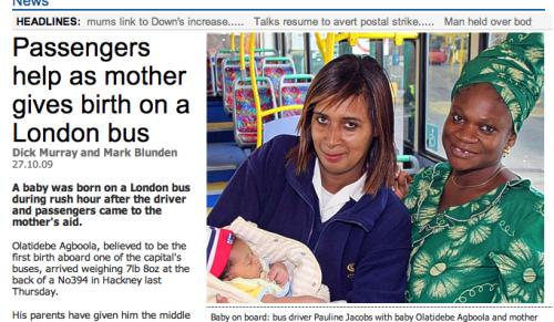 Bus-Geburt
