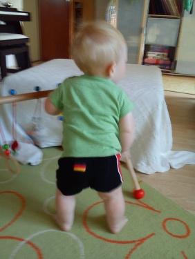 sommeroutfit - boxershorts und Tshirt
