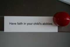 Faith in your child...