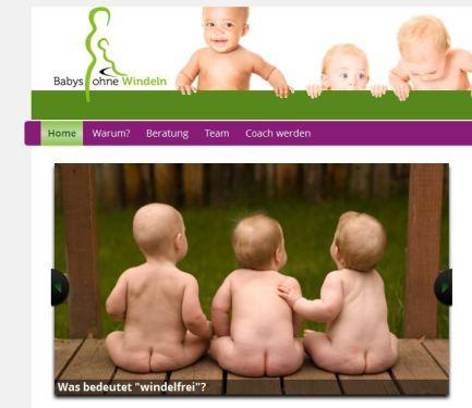 Babys ohne Windeln