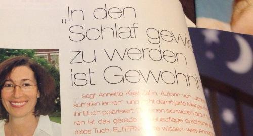 Kast-Zahn Interview in der ELTERN